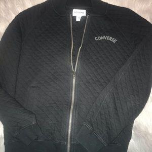 Converse quilted zip up sweatshirt medium EUC